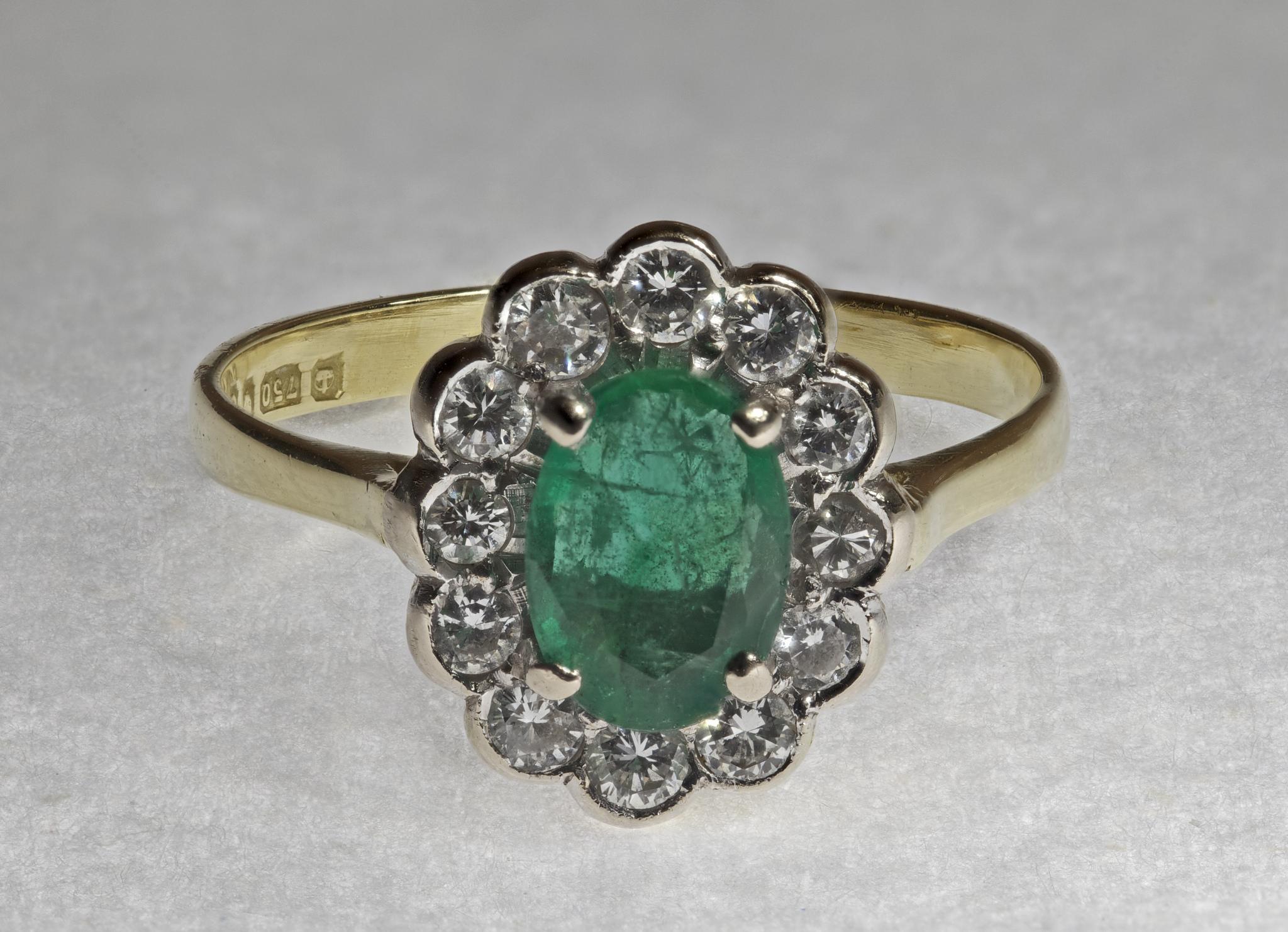 خاتم حجر زمرد أصلي