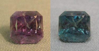 تغير ألوان حجر الكسندريت