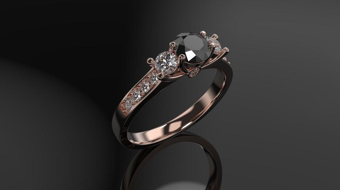 أناقة الماس الاسود