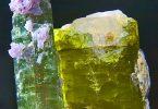 حجر تورمالين أخضر وأصفر برازيلي