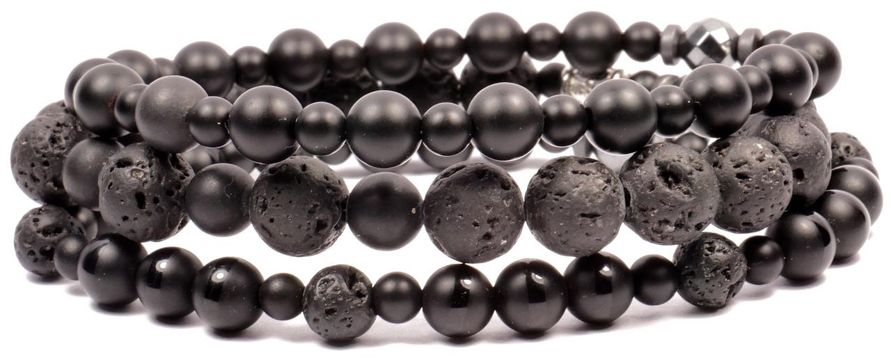 """مظهر مجوهرات حجر الهيماتيت """"الحديد الصيني"""""""