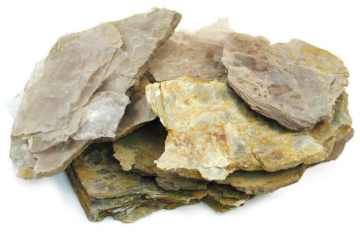 شكل صخور الميكا في الطبيعة