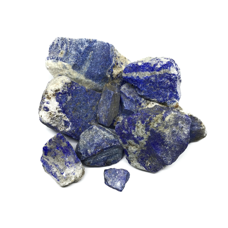 أحجار اللازورد الخام - كيفية التعرف على حجر اللازورد الطبيعي