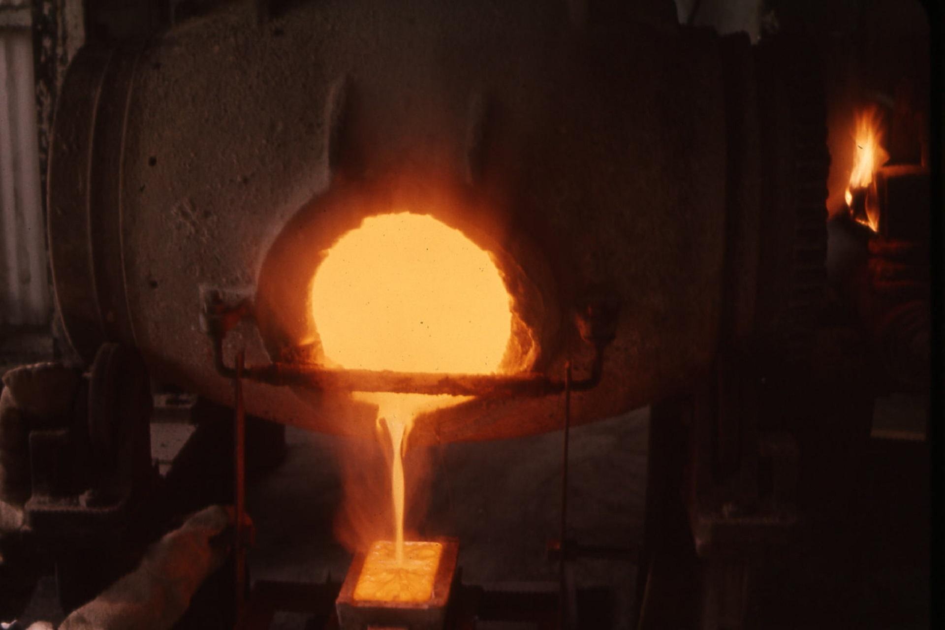 فحص درجة إنصهار الذهب