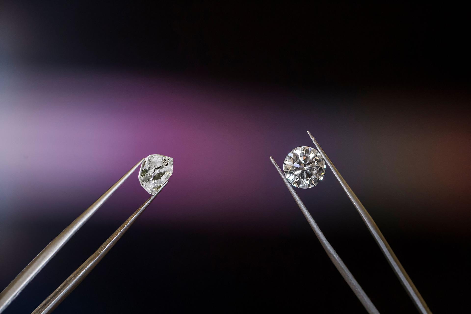 أحجار الماس طبيعية