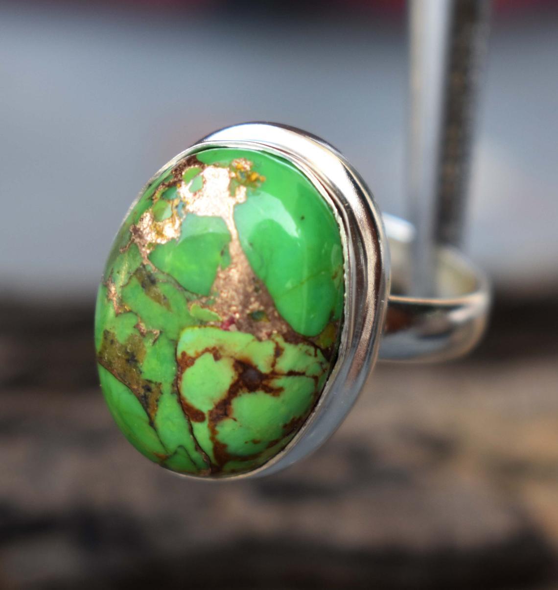 خاتم فيروز أخضر
