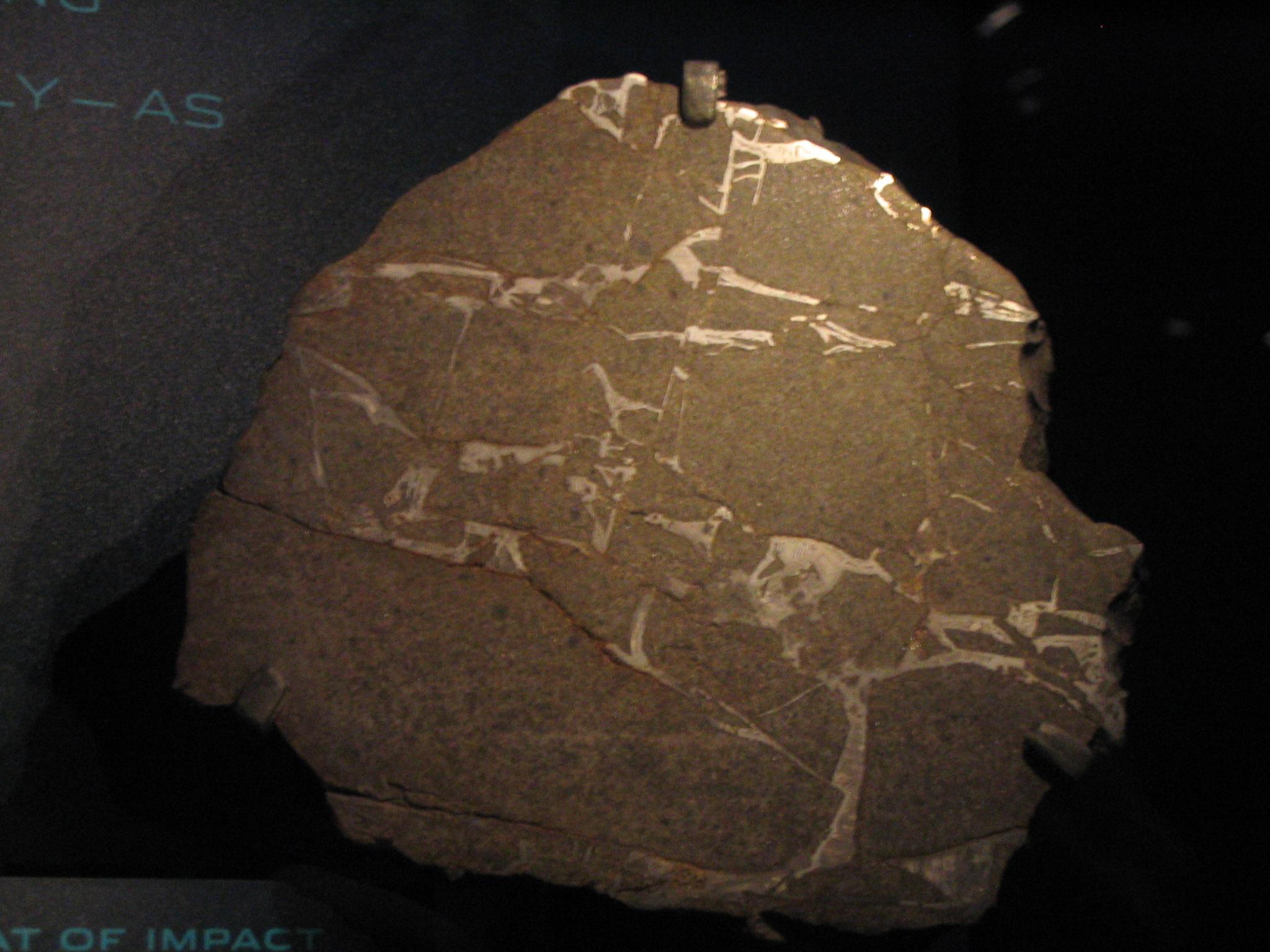 حجر نيزكي صخري