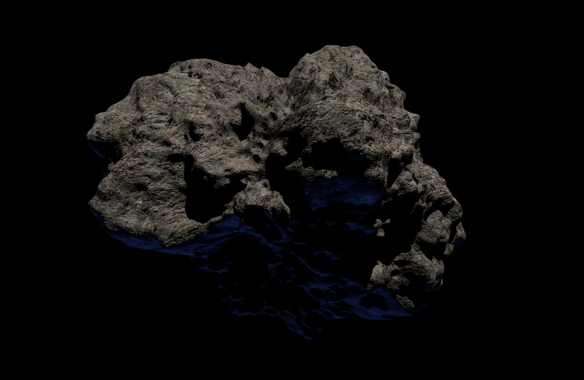 حجر نيزكي في الفضاء العميق